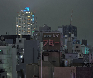 japan, city, and night image