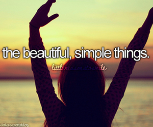quote, simple things, and life image