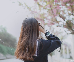 girl, hair, and spring image