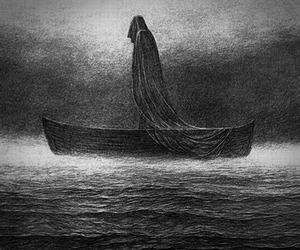 art, lake, and reaper image