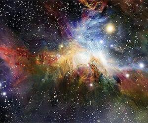 galaxy, stars, and gif image