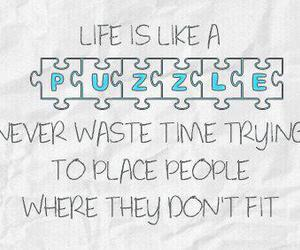 quote, puzzle, and life image