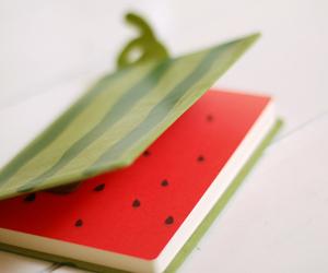 notebook, watermelon, and kawaii image