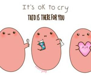 potato, kawaii, and cry image