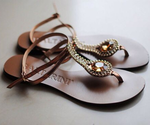 brown, feminine, and sandals image