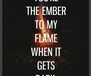 dark, fire, and flame image