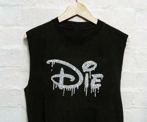 die, black, and disney image