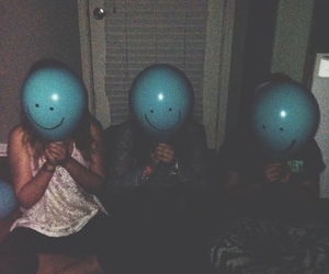 grunge, balloons, and friends image