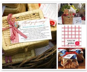 picnic, wedding, and picnic wedding favors image