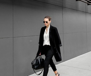 glasses, suit, and business woman image