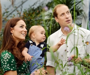 kate middleton, prince george, and family image
