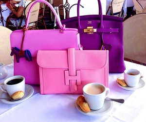 bag, pink, and purple image