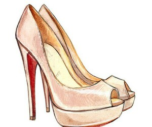 heels, illustrated, and illustration image