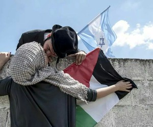 israel, peace, and palestine image
