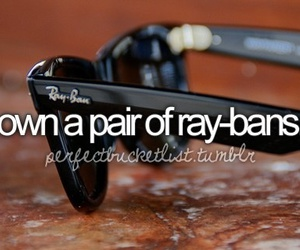 before i die, ray ban, and ray-bans image