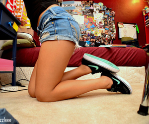 nike, girl, and shoes image
