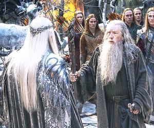 the hobbit, gandalf, and thranduil image