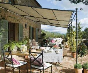 garden, house, and provence image