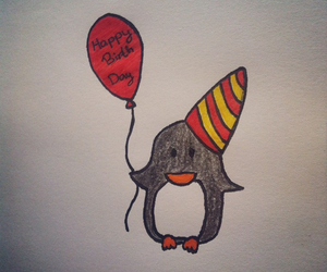 baloon, card, and colors image