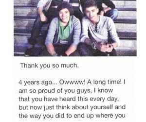 one direction, thank you, and we love you image