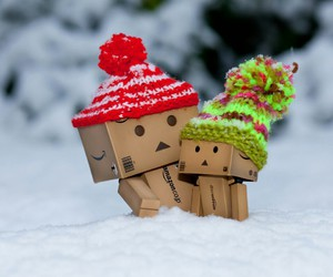 snow, winter, and danbo image