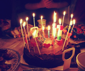 cake and candles image