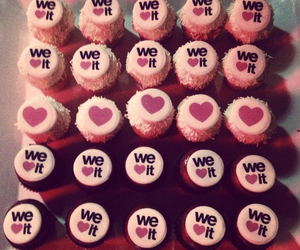 we heart it, cupcake, and heart image