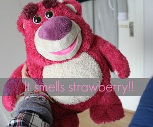 bear, disney, and strawberry image