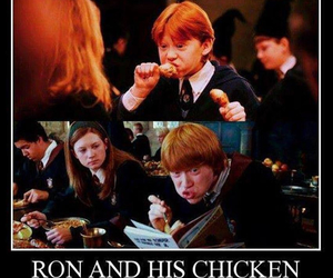 harry potter, Chicken, and ron weasley image