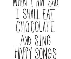 chocolate, sad, and quote image