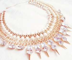necklace, diamond, and gold image