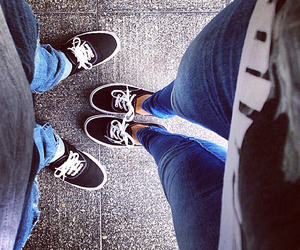 black, couple, and vans image