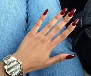 nails, red, and watch image