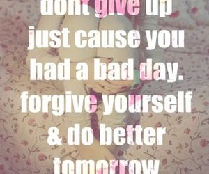 quote, don't give up, and motivation image