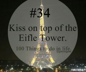 kiss, 34, and 100 things to do in life image