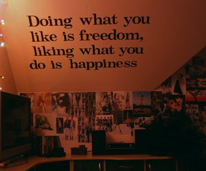 freedom, hapiness, and text image