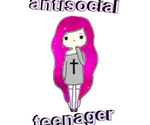 antisocial, galaxy, and overlay image