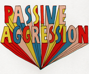 aggression and passive image