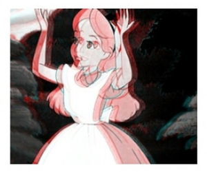 3d, alice in wonderland, and black and red image
