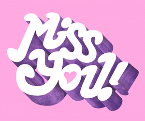 pink, miss you, and heart image
