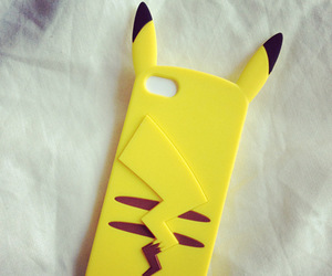 case, phone, and pikachu image