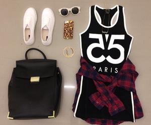 bag, black, and flannel image