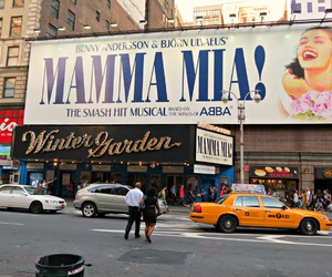 broadway, mamma mia, and musical image