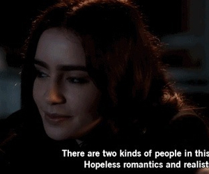 quote, realist, and lily collins image