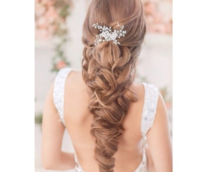 hair, bride, and hairstyle image