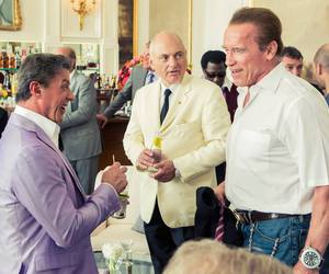 Arnold Schwarzenegger, sylvester stallone, and the expendables image