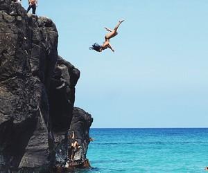 jump, summer, and girl image