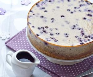 banana, blueberry, and cake image
