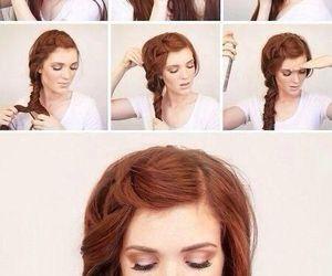 diy, hair, and girl image