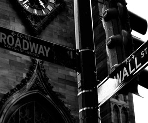 broadway, new york city, and wall street image